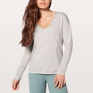 Lululemon Still Movement Gray Pullover Sweater